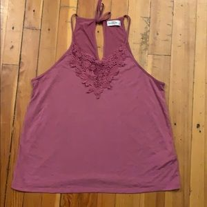 Purple lace tank top from Abercrombie